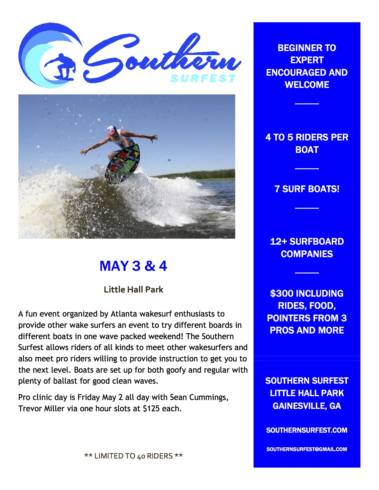 Southern Surfest Event Main Flyer
